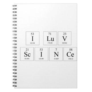 Amo el cuaderno de la ciencia