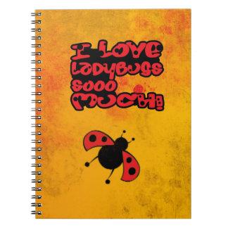 Amo el cuaderno de las mariquitas