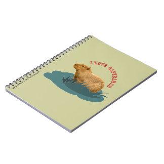 Amo el cuaderno de los capybaras