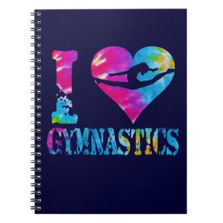 Amo el cuaderno del teñido anudado de la gimnasia