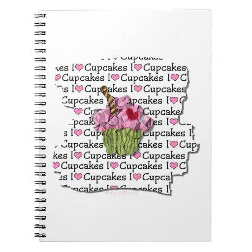 Amo el cuaderno espiral de las magdalenas