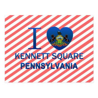 Amo el cuadrado de Kennett, PA Postal