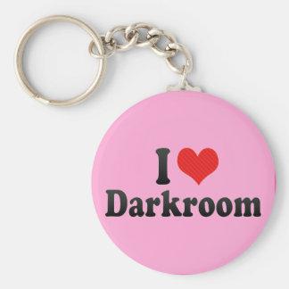 Amo el cuarto oscuro llavero redondo tipo pin