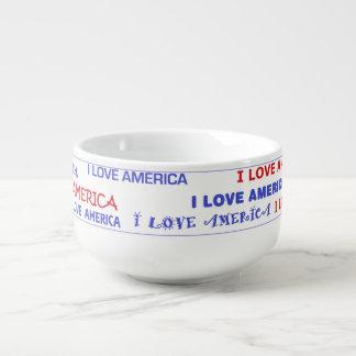 Amo el cuenco para sopa de América