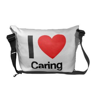 amo el cuidar bolsa messenger