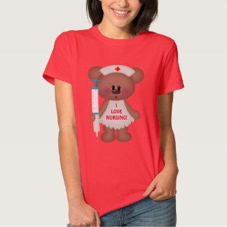 Amo el cuidar de la camiseta del dibujo animado remera