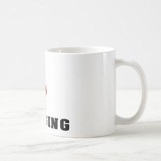 Amo el cuidar taza