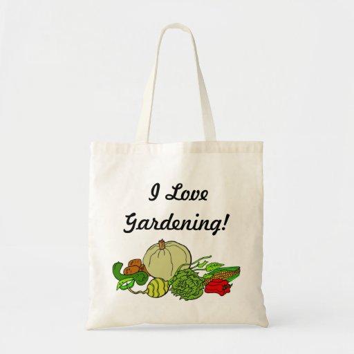 ¡Amo el cultivar un huerto! Bolsa Tela Barata