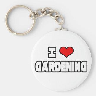 Amo el cultivar un huerto llavero redondo tipo pin