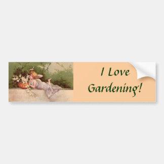 ¡Amo el cultivar un huerto! Pegatina para el parac Pegatina Para Auto