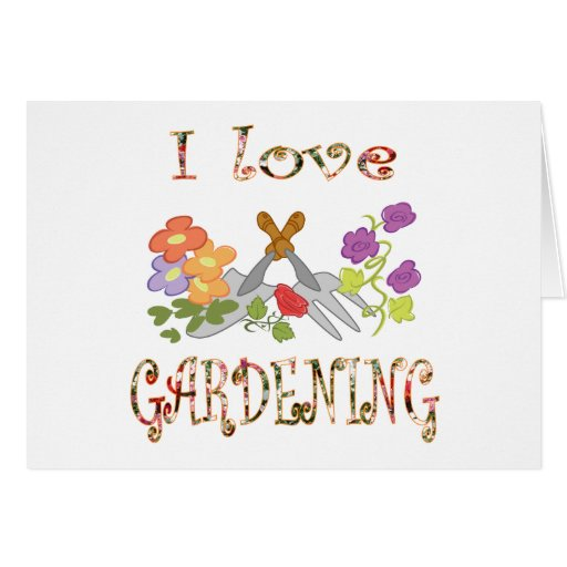 Amo el cultivar un huerto tarjeta de felicitación