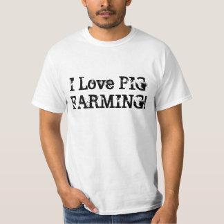 ¡Amo el cultivo de cerdo! Poleras