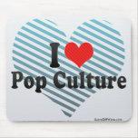 Amo el cultura Pop Tapetes De Raton