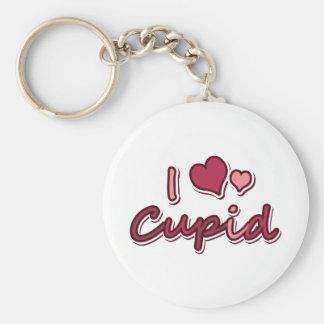 Amo el Cupid Llavero Redondo Tipo Pin