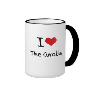 Amo el curable tazas de café
