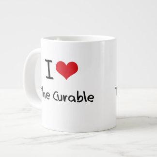 Amo el curable tazas jumbo