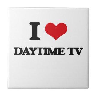 Amo el d3ia TV Azulejo Cuadrado Pequeño