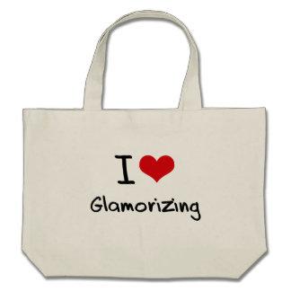 Amo el dar glamour bolsas de mano