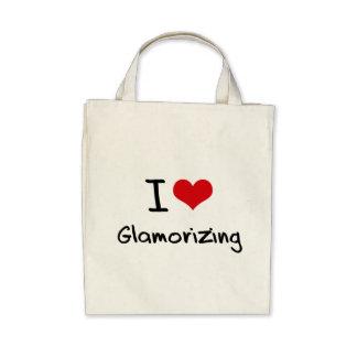 Amo el dar glamour bolsas lienzo