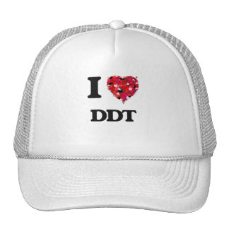 Amo el DDT Gorros Bordados