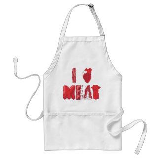 Amo el delantal de la carne
