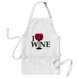 Amo el delantal del vino