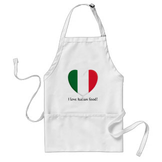 Amo el delantal italiano de la comida