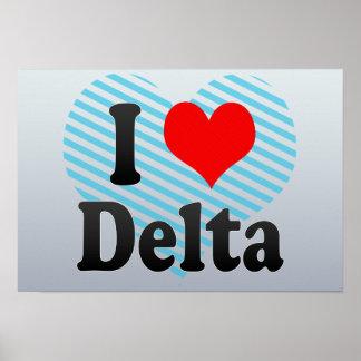 Amo el delta Canadá Poster