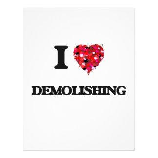 """Amo el demoler folleto 8.5"""" x 11"""""""