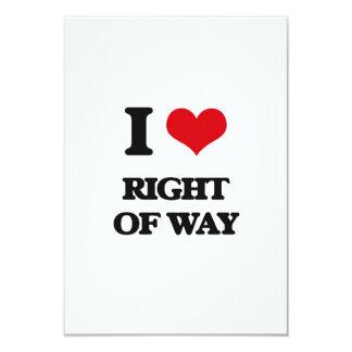 Amo el derecho de paso invitación personalizada