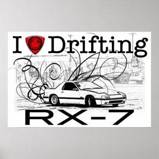 Amo el derivar de RX-7 Póster
