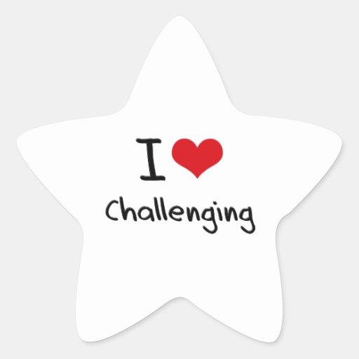 Amo el desafiar pegatina forma de estrella