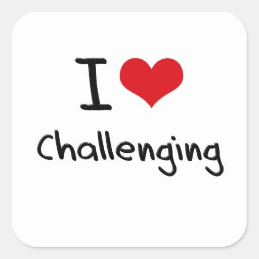 Amo el desafiar colcomania cuadrada