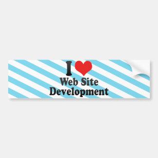 Amo el desarrollo del Web site Pegatina De Parachoque