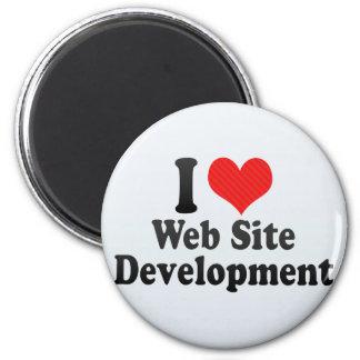 Amo el desarrollo del Web site Imanes