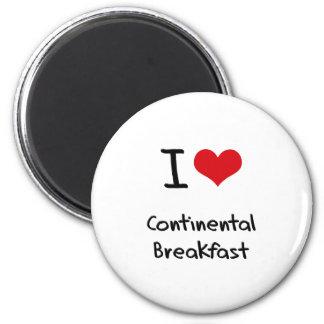 Amo el desayuno continental iman de frigorífico