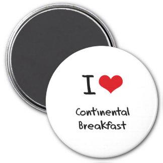 Amo el desayuno continental iman para frigorífico