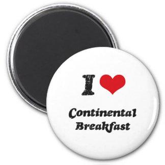 Amo el desayuno continental iman de nevera