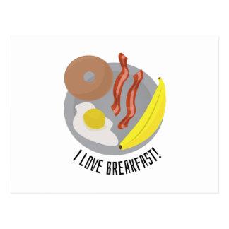 ¡Amo el desayuno! Tarjetas Postales