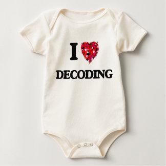 Amo el descifrar traje de bebé
