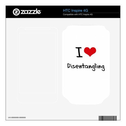 Amo el desenredar HTC inspire 4G calcomanía