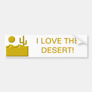 Amo el desierto pegatina de parachoque