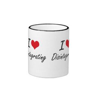 Amo el desintegrarme taza de dos colores