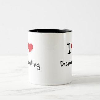 Amo el desmontar tazas de café