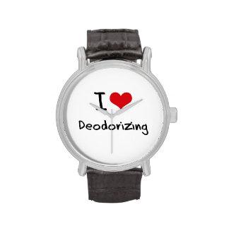 Amo el desodorizar reloj de mano