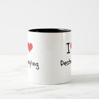 Amo el destruir tazas de café