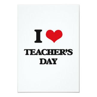 Amo el día de los profesores invitación 8,9 x 12,7 cm