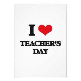 Amo el día de los profesores invitación 12,7 x 17,8 cm