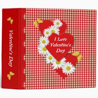 Amo el día de San Valentín carpeta de 2 pulgadas