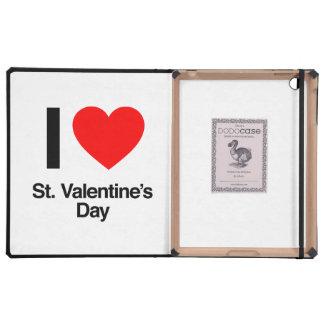 amo el día de San Valentín del St. iPad Carcasa